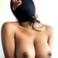 黒人マスク変態性処理道具